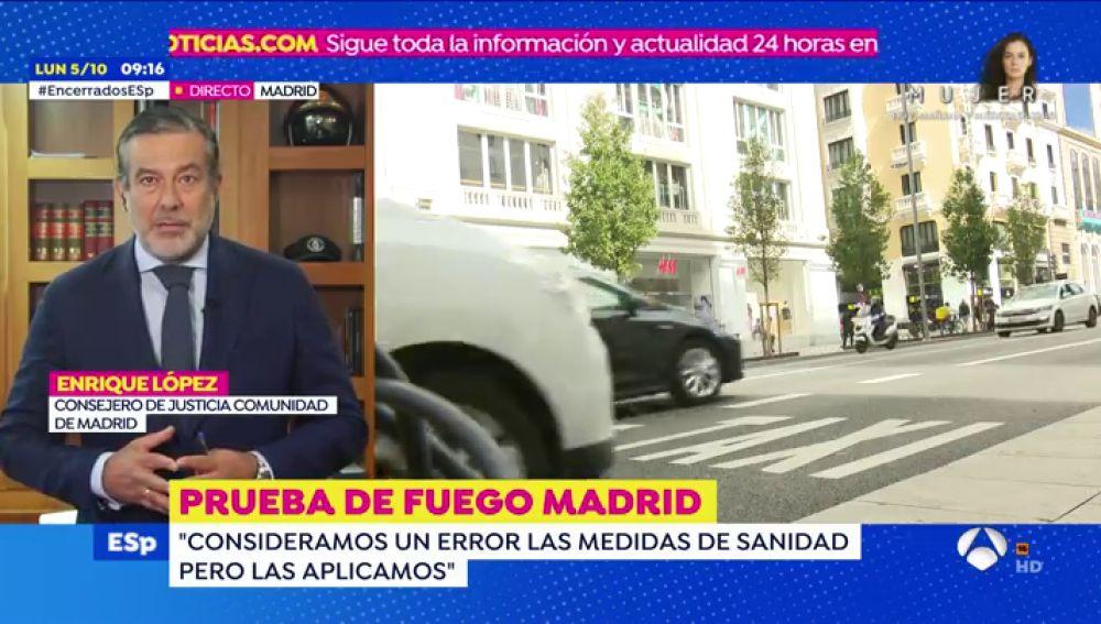 Coronavirus Madrid: Entrevista a Enrique López sobre las restricciones de Madrid