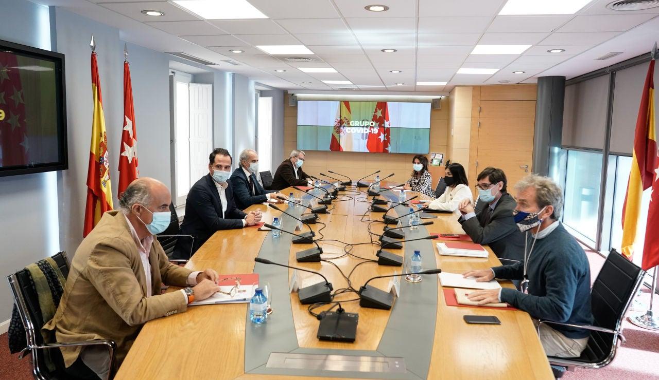Reunión del grupo COVID 19 de la Comunidad de Madrid y el Ministerio de Sanidad