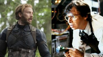 Chris Evans como Capitán América y Rick Moranis en 'Cariño, he encogido a los niños'