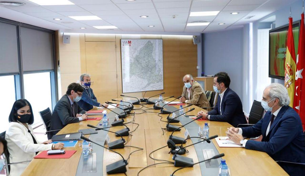 Imagen de archivo de una reunión del grupo COVID 19 de la Comunidad de Madrid y el Ministerio de Sanidad