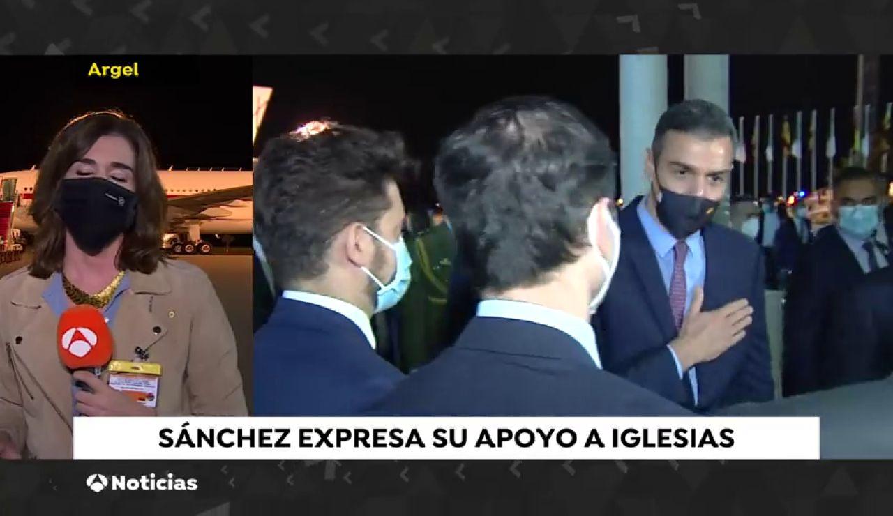 Pedro Sánchez respalda a Pablo Iglesias tras las acusaciones por el 'caso Dina'