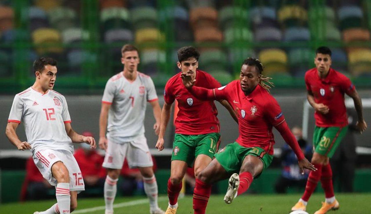 España y Portugal empatan sin goles con un buen debut de Adama Traoré