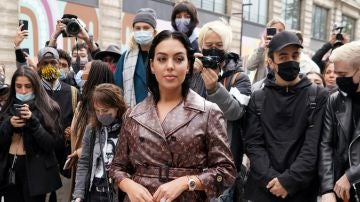 Georgina Rodríguez en la Semana de la Moda de París