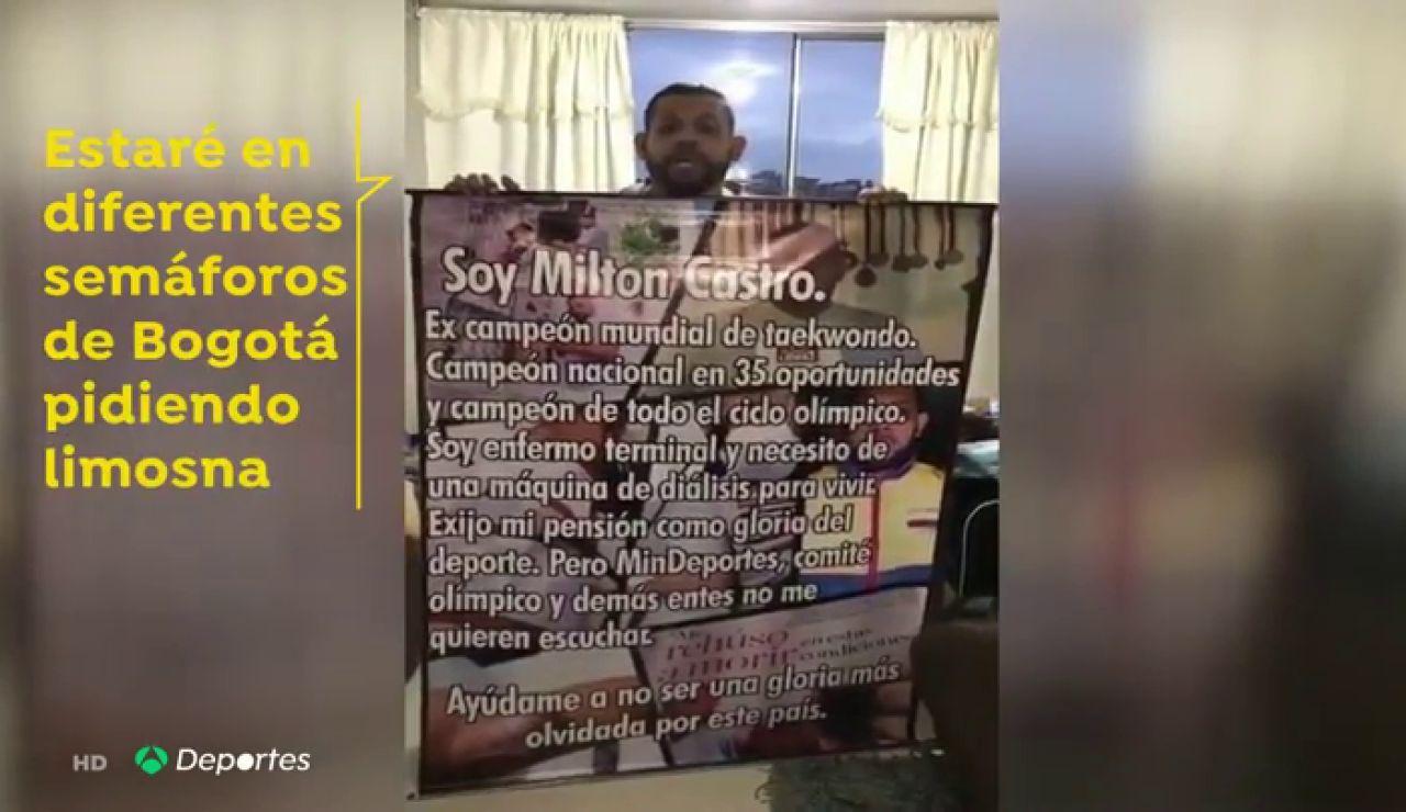 Milton Castro, el extaekwondista que ha pasado de participar en unos Juegos Olímpicos a pedir dinero en un semáforo
