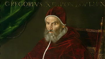 Retrato del Papa Gregorio XIII (Ugo Buoncompagni) (1502-85) de Lavinia Fontana