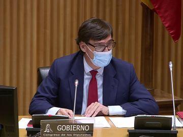 Salvador Illa en la comisión de Sanidad