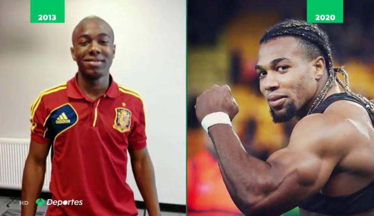 El increíble cambio de Adama Traoré, el 'Hulk' de la selección española que se embadurna en aceite