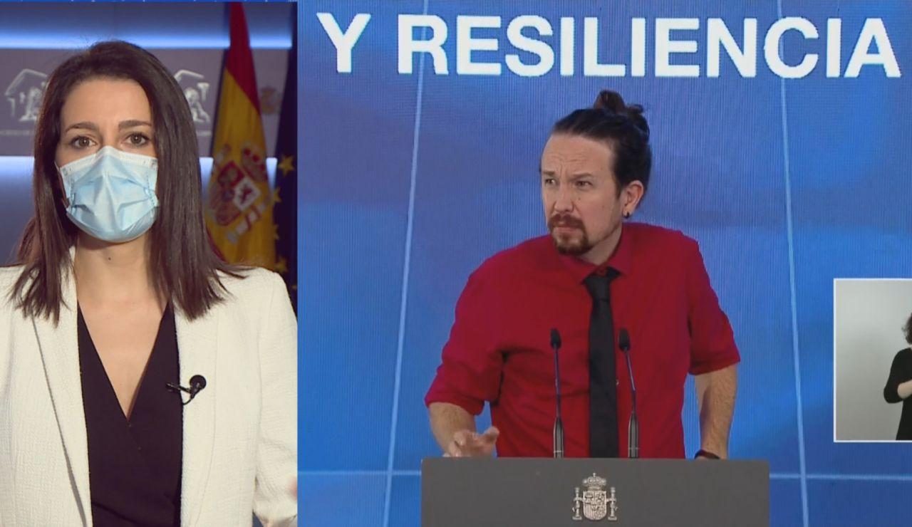 """Inés Arrimadas sobre Pablo Iglesias y el caso Dina: """"Debería ponerse a sí mismo el listón"""""""