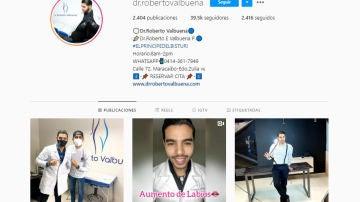 Instagram de @dr.robertovalbuena