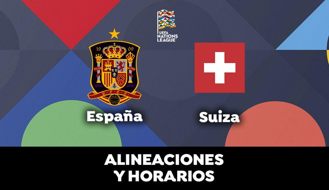 España - Suiza: Alineación de España, horario y dónde ver el partido de la UEFA Nations League en directo