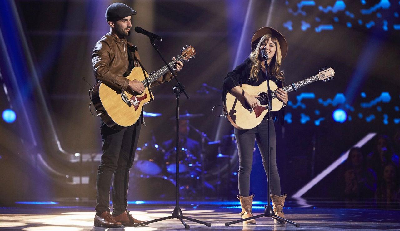 Melisa y Ludovico, pura química cantando a dúo 'When you say nothing at all' en las Audiciones a ciegas de 'La Voz'