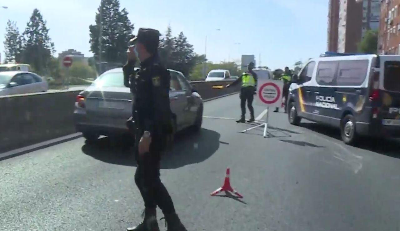 Controles de policía en Madrid