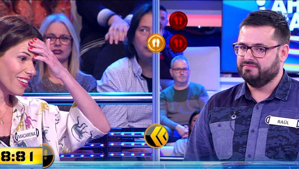 ¡Qué tensión! Un actor de Hollywood decanta el duelo final con 17.000 euros en juego en '¡Ahora caigo!'