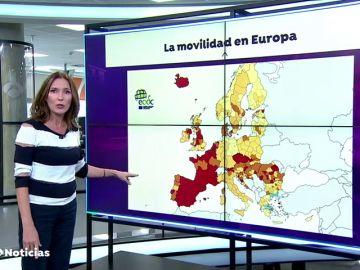 España, destino en rojo en el semáforo covid de la Unión Europea