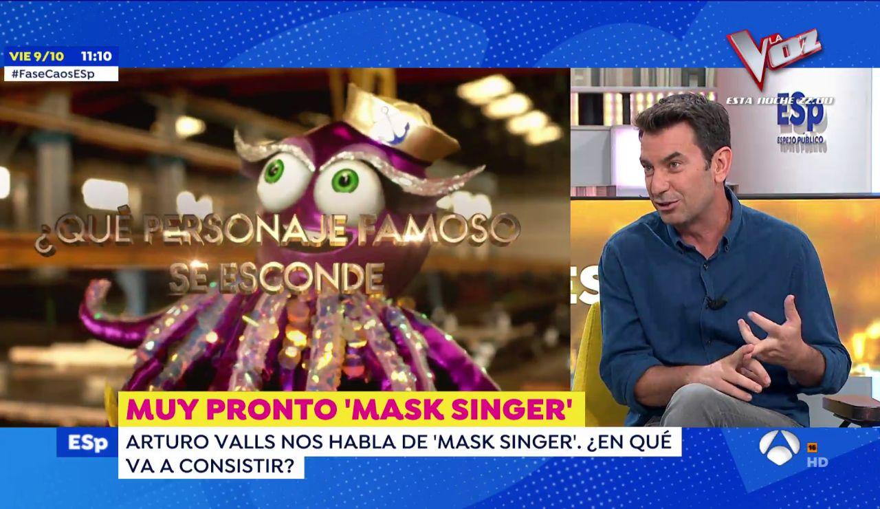 """La pista de Arturo Valls sobre 'Mask Singer: adivina quién canta': """"Puede haber políticos tras las máscaras"""""""