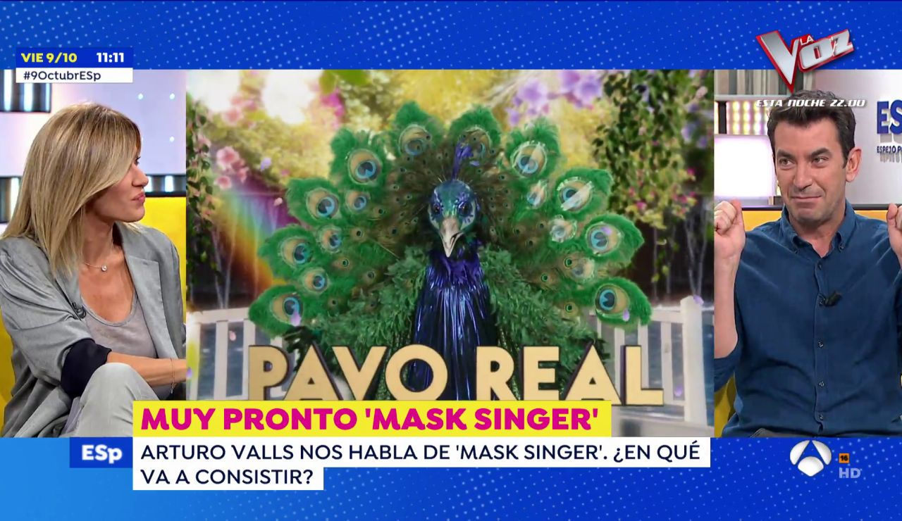 Arturo Valls explica la dinámica de 'Mask Singer: adivina quién canta':