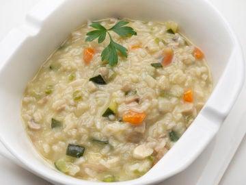 La receta para los jóvenes: risotto de verduras con queso azul