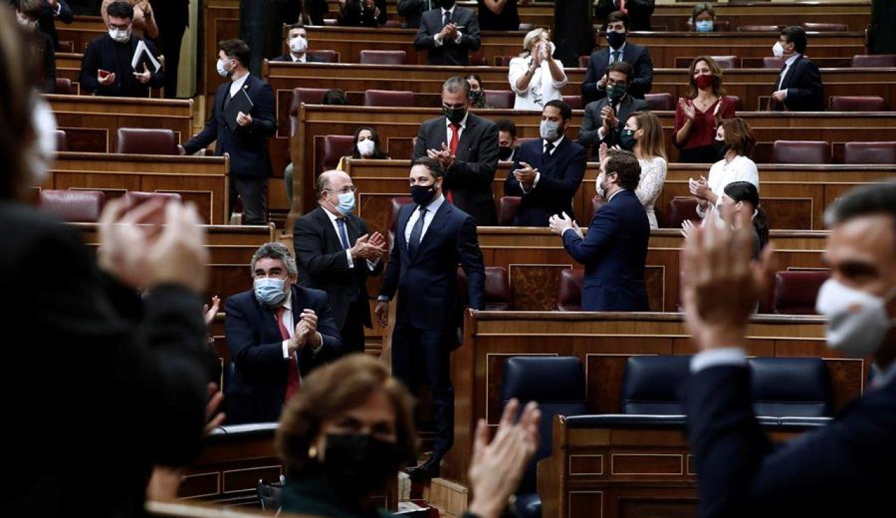 El Congreso de los diputados vota 'no' a la moción de censura de Vox con 298 votos en contra