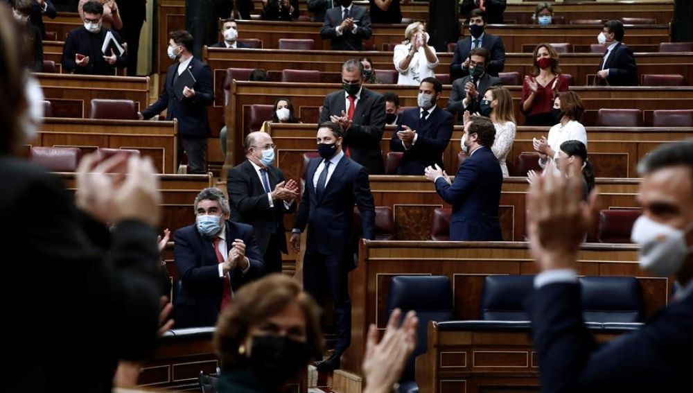 Moción de censura Vox: El Congreso de los diputados vota 'no' con 298 votos en contra