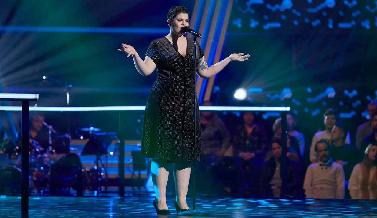 Mireia Cuesta canta 'La vie en rose' en los Asaltos de 'La Voz'