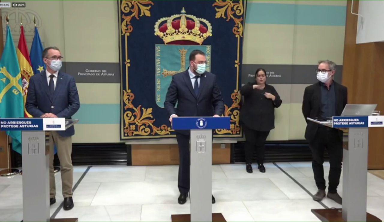 Asturias también pide al Gobierno el estado de alarma para aplicar el toque de queda en el Principado