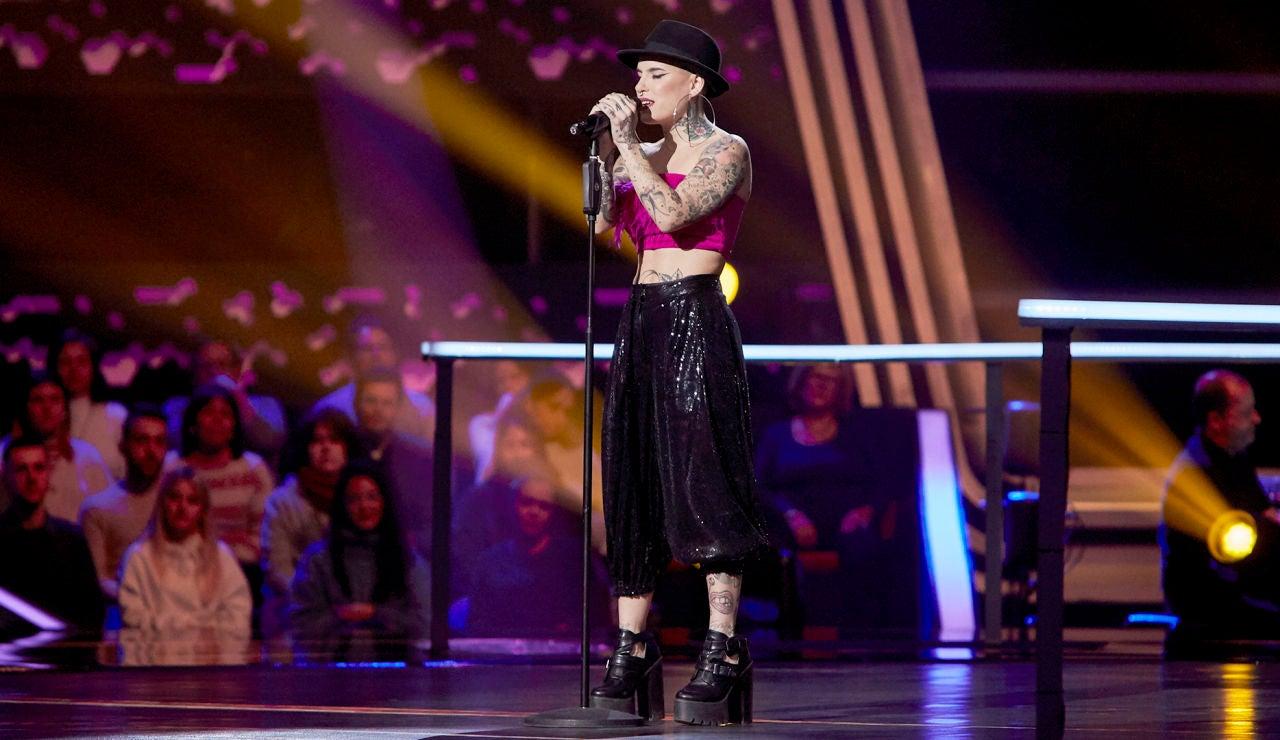 Haizea canta 'Tuyo' en los Asaltos de 'La Voz'