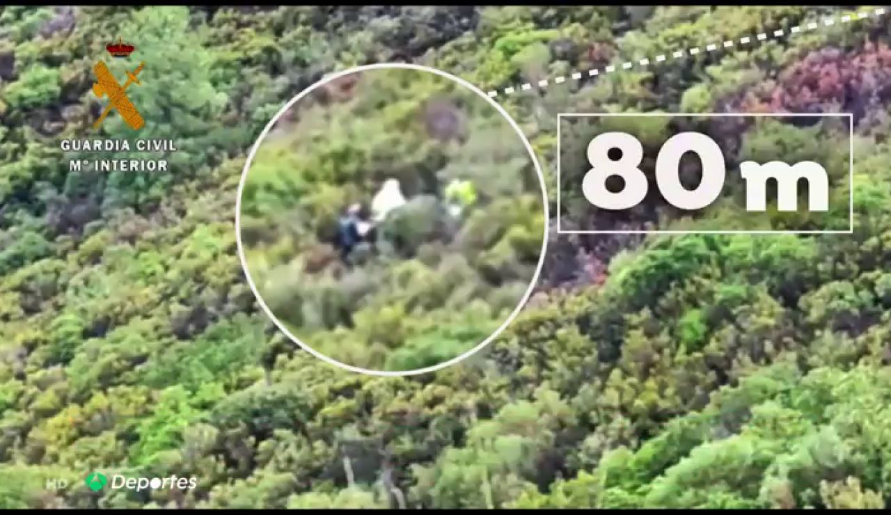 Muere un piloto en Cáceres tras despeñarse por un barranco de más de 100 metros