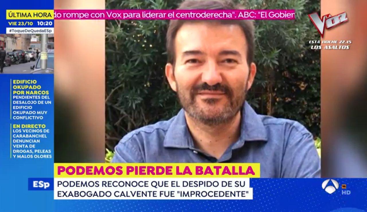 Podemos da la razón al que fuera su abogado José Manuel Calvente: No hubo acoso sexual