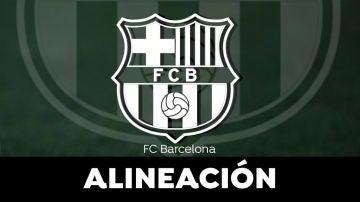 Alineación del Barcelona en el Clásico de la Liga Santander hoy