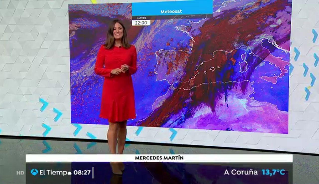 Continuan las lluvias y se espera un descenso generalizado de las temperaturas