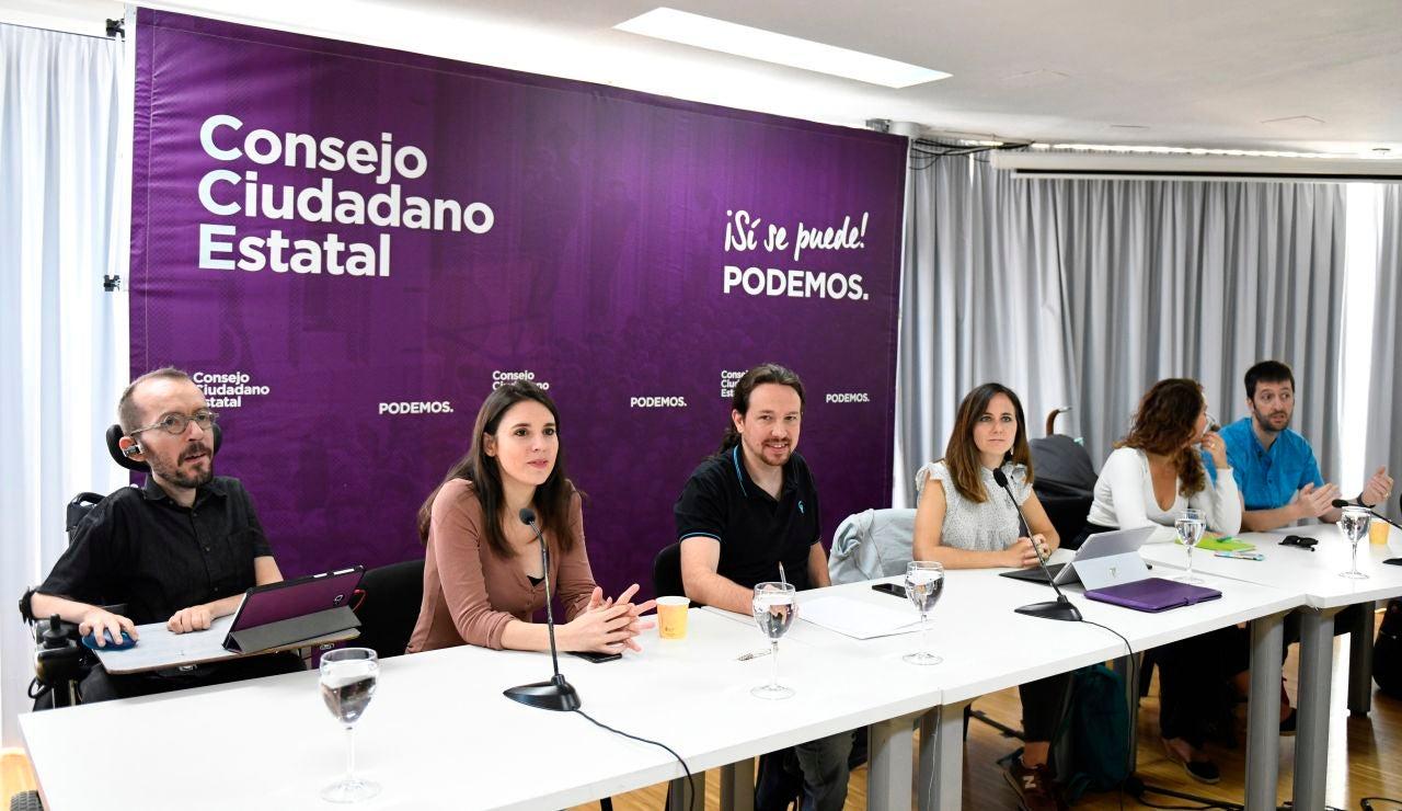 Reunión del máximo órgano de dirección de Podemos, el Consejo Ciudadano