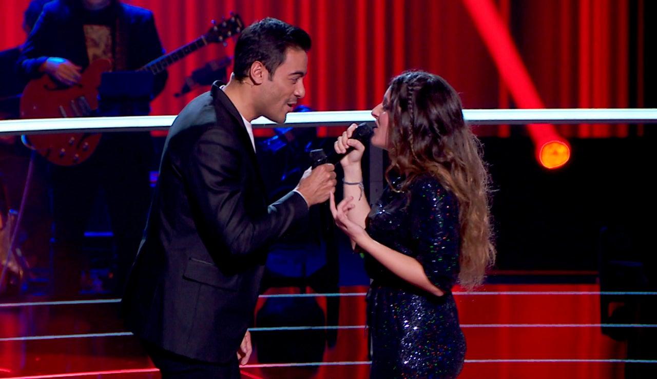 Carlos Rivera cumple el sueño de Carlota Palacios al cantar con ella 'Solo tú' en los Asaltos de 'La Voz'
