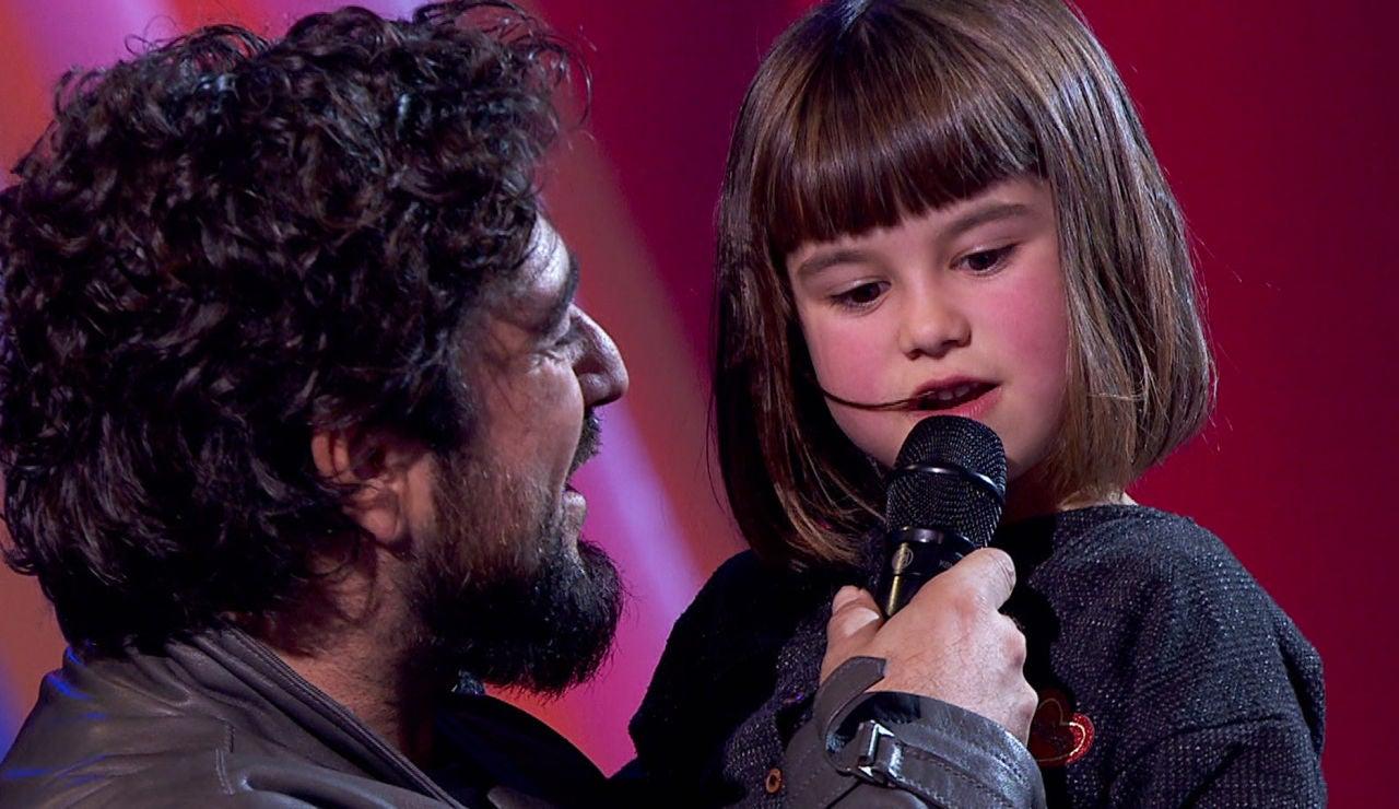 El tierno momento en el que la hija de una talent de 'La Voz' confiesa que quiere conocer al hijo de Antonio Orozco