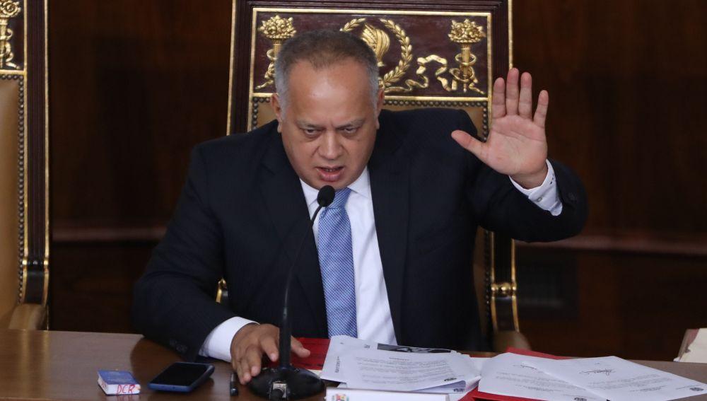 Diosdado Cabello, presidente de la Asamblea Nacional en Venezuela