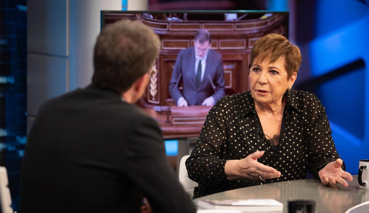"""Celia Villalobos, en 'El Hormiguero 3.0': """"Quien hizo las leyes más fuertes contra la corrupción ha sido Mariano Rajoy y al final lo ha pagado él todo"""""""