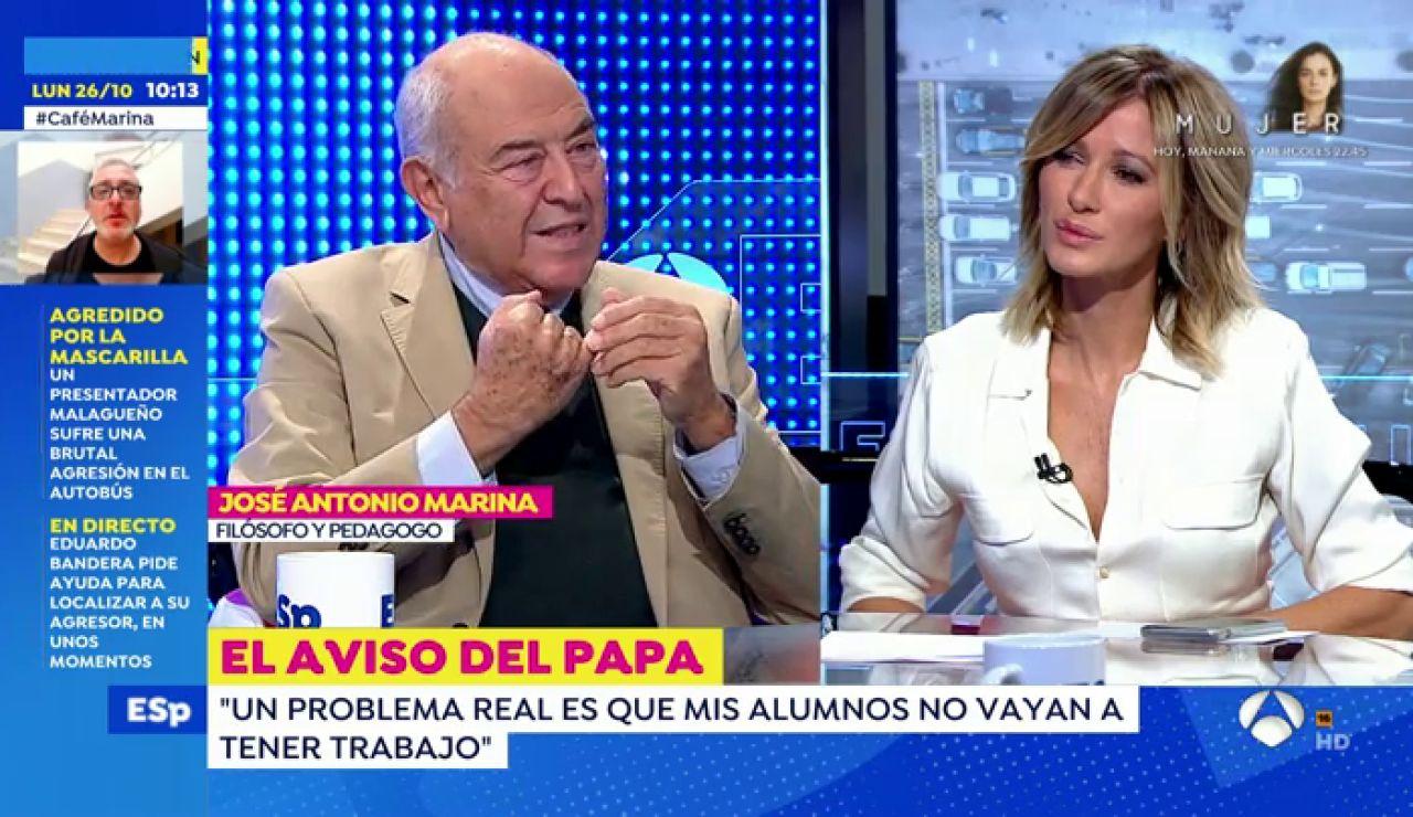 El programa Espejo Público entrevista este lunes al filósofo y pedagogo José Antonio Marina