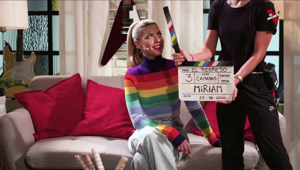 Miriam se hace con la claqueta de 'El Regreso'