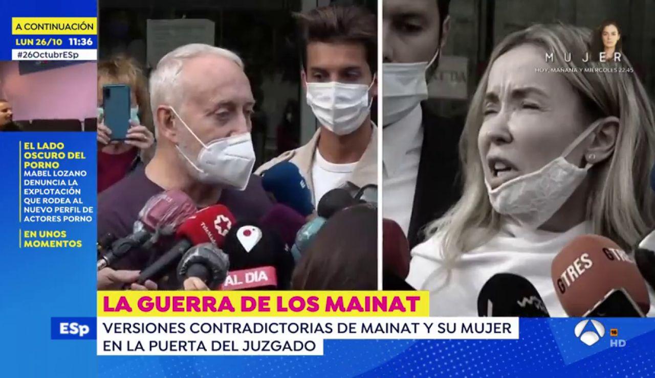 Las contradicciones entre la versión de Josep Maria Mainat y Angela Dobrowolski