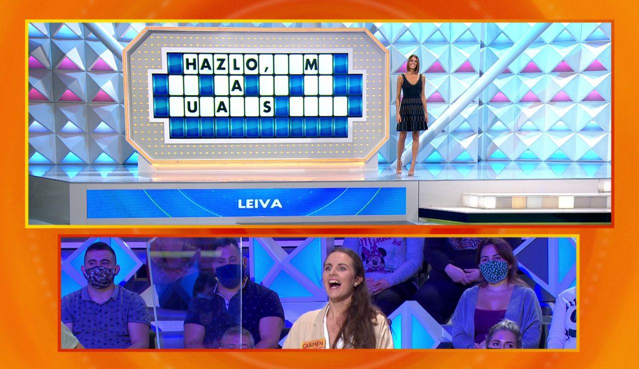 Leiva se 'cuela' en el plató de 'La ruleta de la suerte' con una de sus canciones de más éxito
