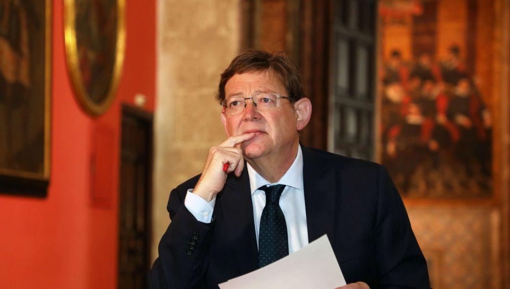 Ximo Puig en el Palau de la Generalitat