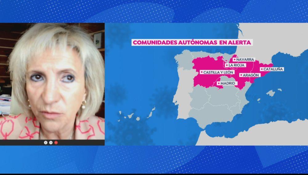 Consejera de Sanidad de Castilla y León habla sobre el toque de queda en la comunidad.
