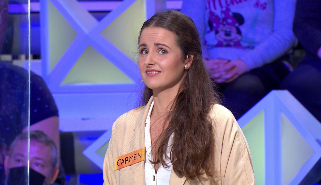 """El susto de Jorge Fernández a una concursante tras resolver el panel: """"Fíjate que te lo han dicho…"""""""