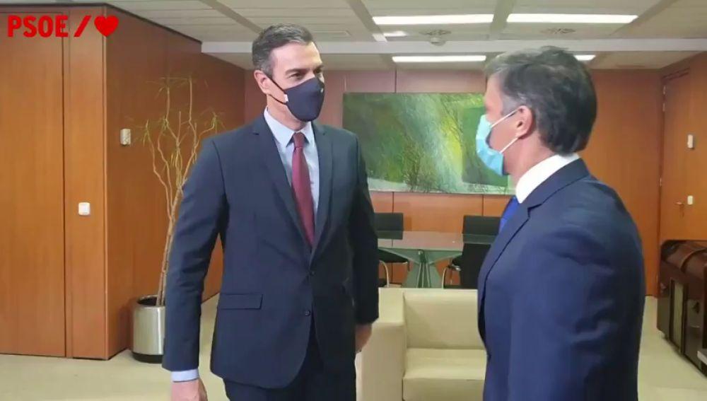 Pedro Sánchez y Leopoldo López