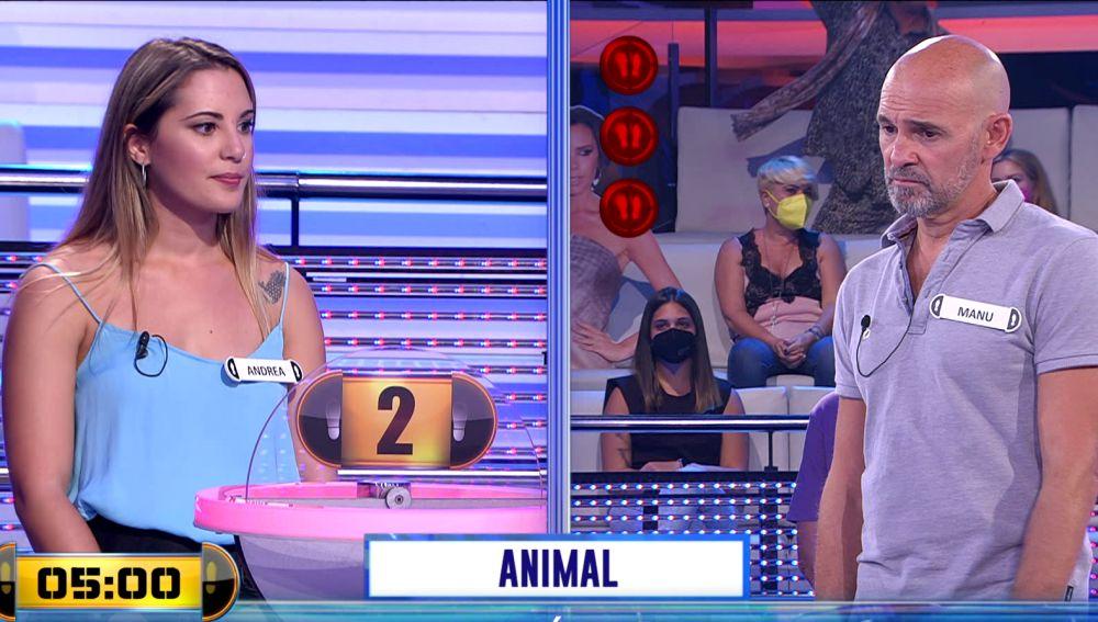 """""""¡Os veo perdidos!"""": El animal que se les atraganta a Andrea y Manu en el 'Adivina' de '¡Ahora caigo!'"""