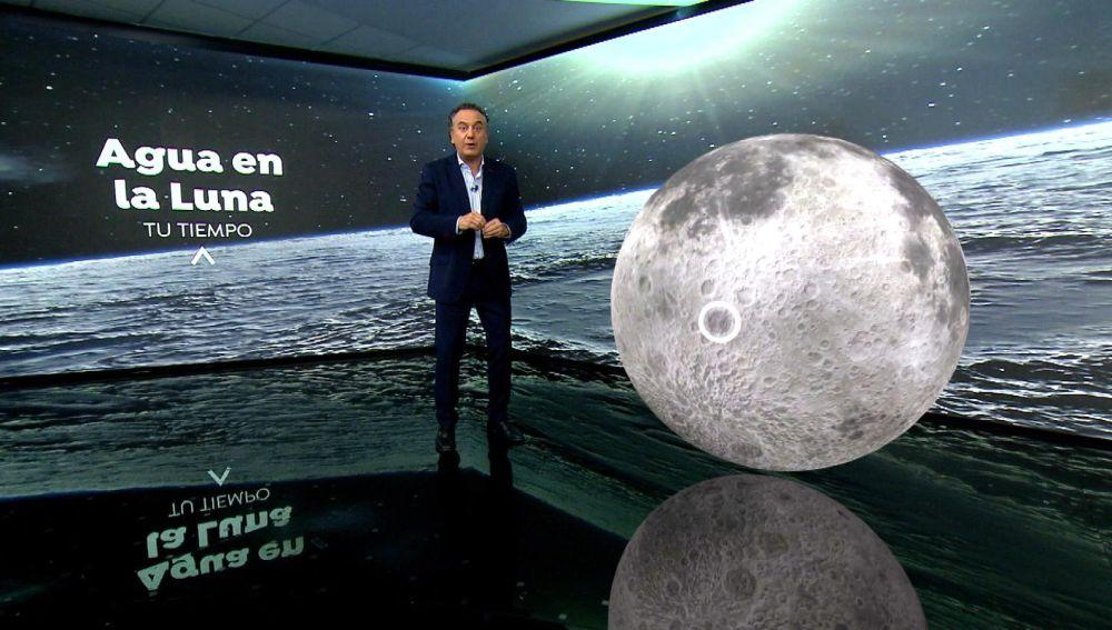 Geólogo habla sobre el descubrimiento de agua en la luna.