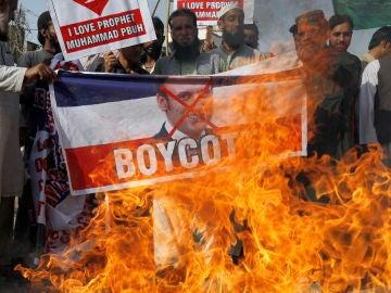 Boicot a los productos franceses en países musulmanes tras las palabras de Emmanuel Macron