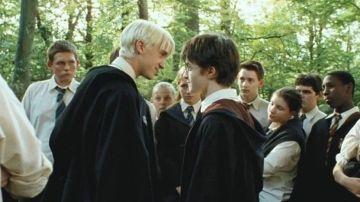 Tom Felton y Daniel Radcliffe en 'Harry Potter'