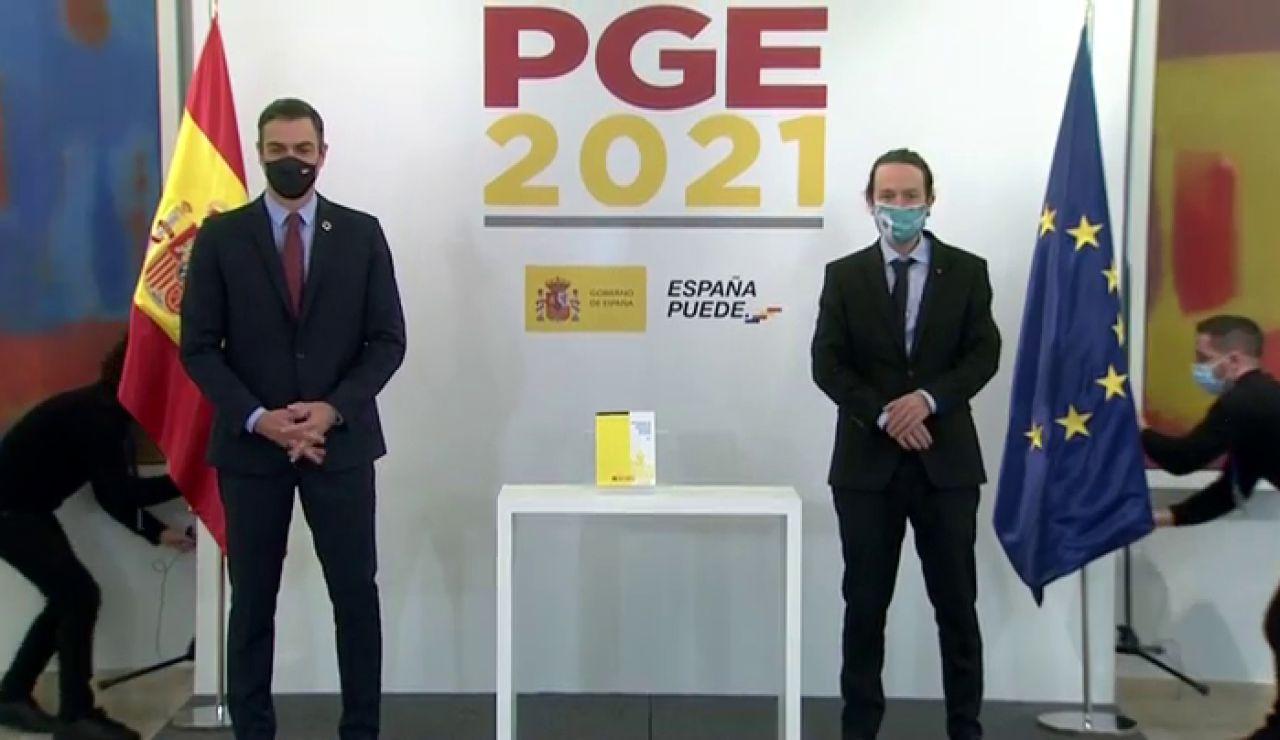"""Pedro Sánchez y Pablo Iglesias presentan el proyecto de Presupuestos Generales del Estado:  """"Los Presupuestos progresistas"""""""