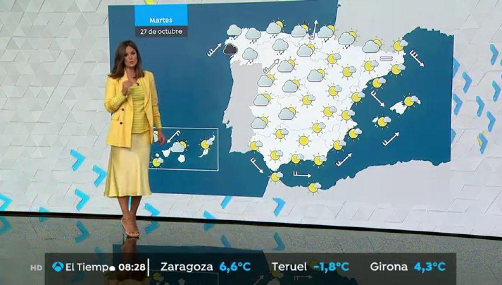 Suben las temperaturas ligeramente pero continúan las lluvias en zonas de Galicia, Asturias, Navarra y País Vasco