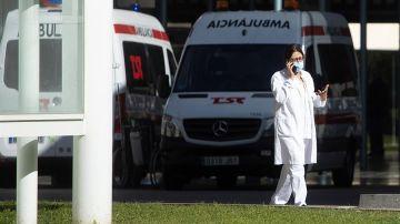 Doctora en una ambulancia